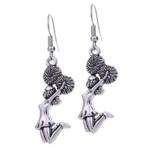 3ba98d9d6 Jewelry - Adorable Cheerleader Tibetan Silver Tone Earrings Not for Sale